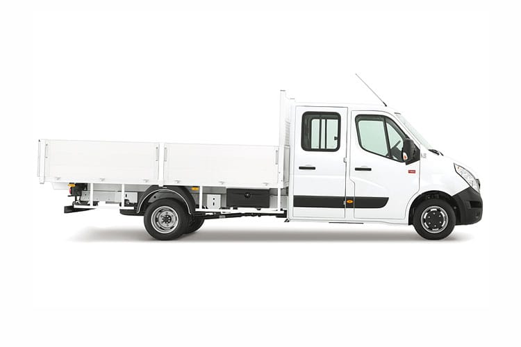 Back view of Renault Master Chassis Double Cab Dropside MLL35TWdCi Energy Business RWD (MY2019)