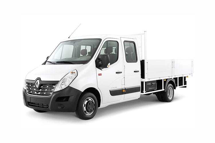 Front view of Renault Master Chassis Double Cab Dropside MLL35TWdCi Energy Business RWD (MY2019)