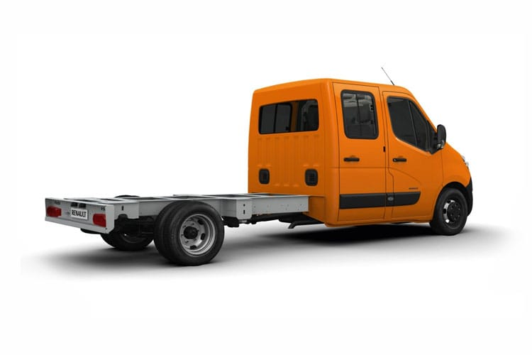 Back view of Renault Master Chassis Double Cab LLL35TW dCi Energy 145 Business RWD