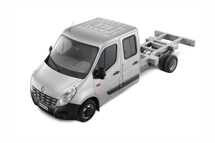 Front view of Renault Master Chassis Double Cab MLL35TW dCi Energy 145 Business RWD (MY2019)