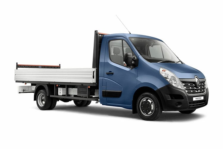 Front view of Renault Master Dropside Chassis Cab ML35TW dCi Energy 145 Business RWD