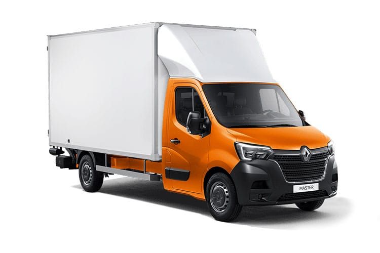 Front view of Renault Master Luton Box Van LL35dCi 130 Business RWD