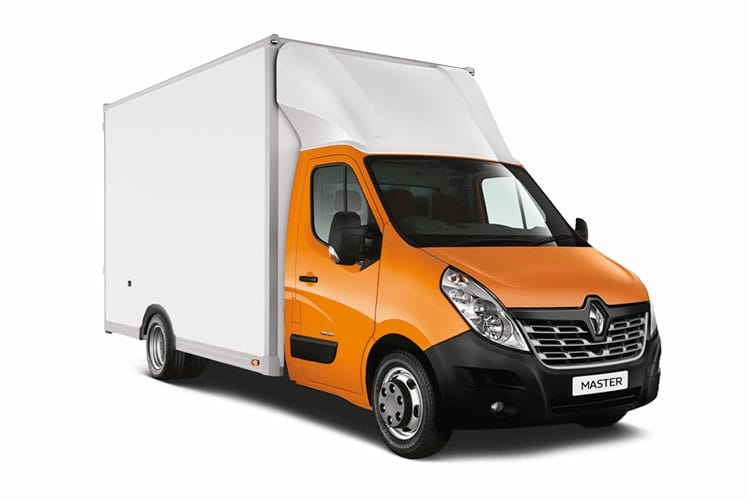 Front view of Renault Master Luton Loloader LL35 dCi 150 QUICKSHIFT6 Business FWD