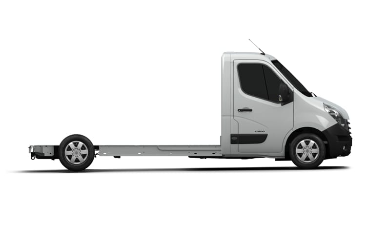 Back view of Renault Master Platform Cab ML35 dCi 135 Business FWD (MY2019)