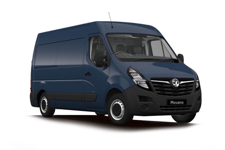Front view of Vauxhall Movano L1H2 Van 3500 2.3CDTi Turbo D 150 Start+Stop