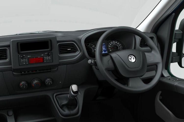 Inside view of Vauxhall Movano L1H2 Van 3500 2.3CDTi Turbo D 150 Start+Stop