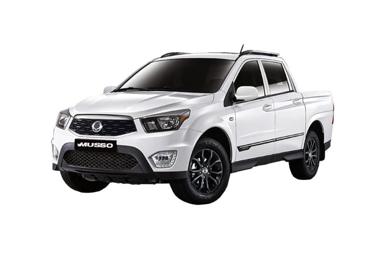 Front view of Ssangyong Musso Double Cab Pick Up 2.2 EX