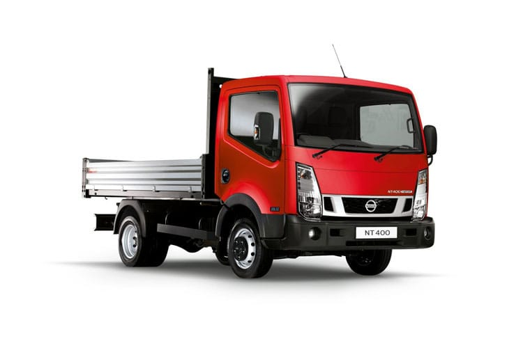 Front view of Nissan NT400 Cabstar MWB Dropside 35.13 3.0dCi