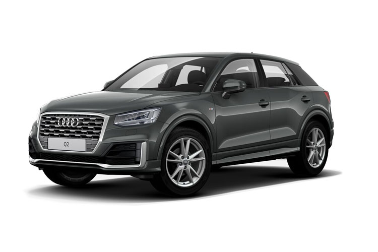 Front view of Audi Q2 Suv 30 TFSI 110ps Technik (MY2021)