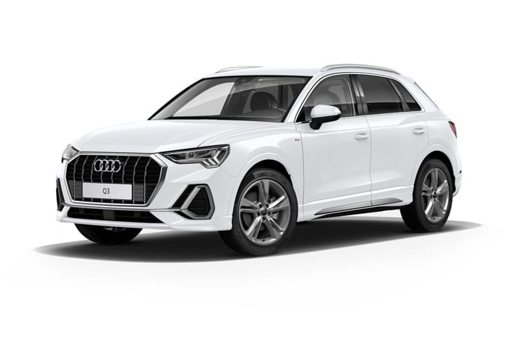 Front view of Audi Q3 Suv 35 TFSI 150ps Technik (MY2021)