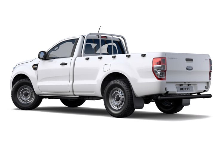 Back view of Ford Ranger Pick Up 2.0 Ecoblue 170 Regular XL 4X4