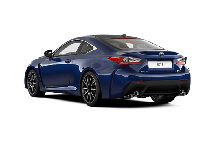 Back view of Lexus RC F 2 Door Coupe 5.0 463hp Auto