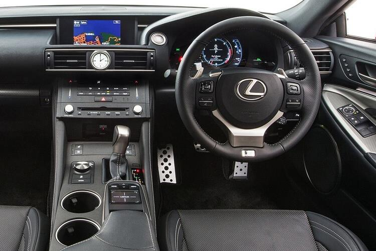 Inside view of Lexus RC F 2 Door Coupe 5.0 463hp Auto