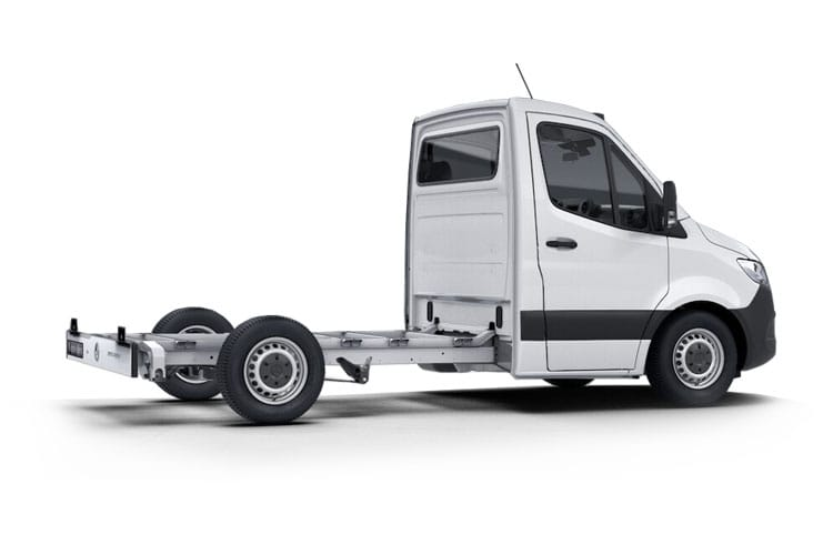 Back view of Mercedes 311CDI Sprinter Chassis Cab 3.5t L1 FWD