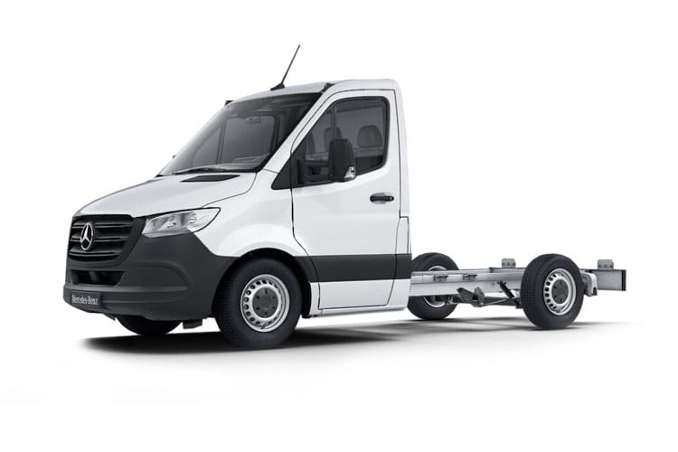Front view of Mercedes 311CDI Sprinter Chassis Cab 3.5t L1 FWD
