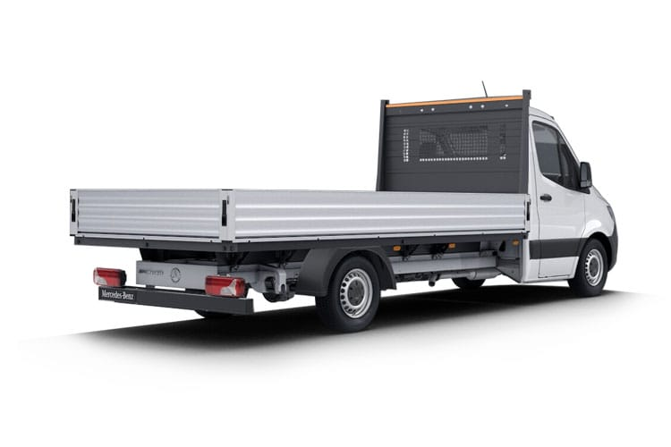 Back view of Mercedes 316CDI Sprinter Chassis Cab 3.5t L3 RWD Dropside 7G-Tronic Plus