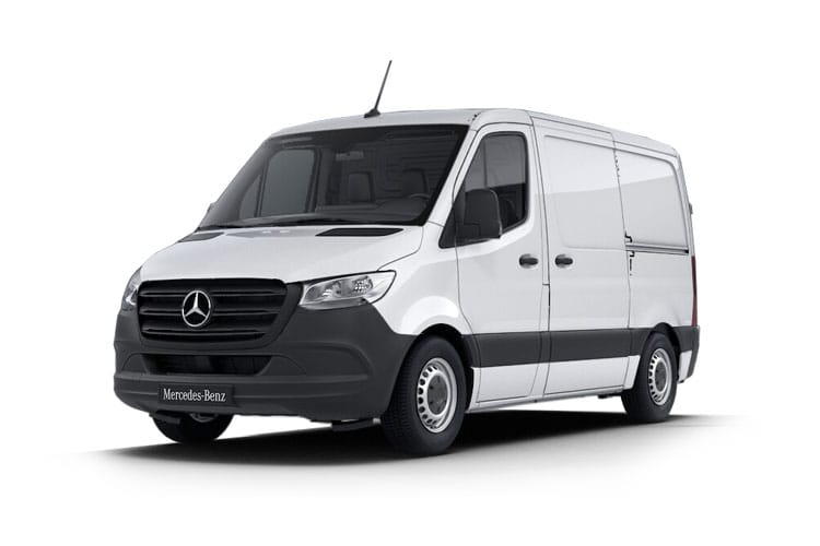 Front view of Mercedes 214CDI Sprinter Van 3.0t L1H2 FWD (MY2018)