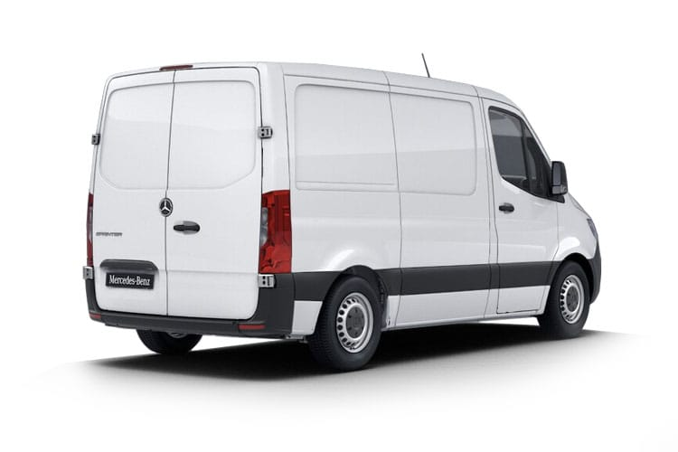 Back view of Mercedes 314CDI Sprinter Van 3.5t L1H1 Premium FWD