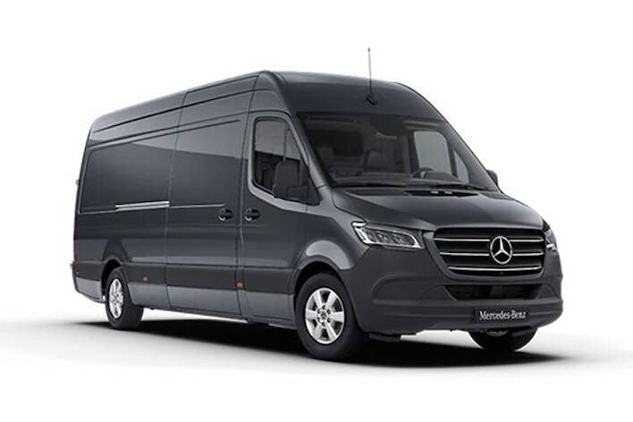 Front view of Mercedes 214CDI Sprinter Van 3.0t L1H1 Pure FWD