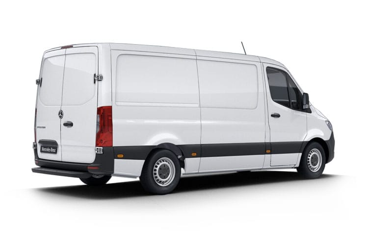 Back view of Mercedes 314CDI Sprinter Van 3.5t L2H1 FWD 9G tronic