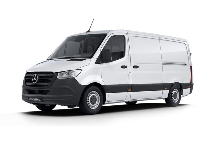 Front view of Mercedes 314CDI Sprinter Van 3.5t L2H2 FWD
