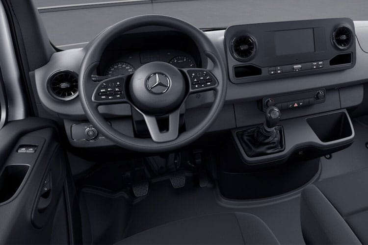Inside view of Mercedes 314CDI Sprinter Van 3.5t L2H1 FWD 9G tronic