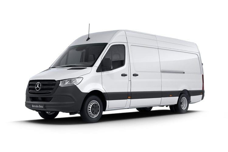 Front view of Mercedes 314CDI Sprinter Van 3.5t L3H2 RWD