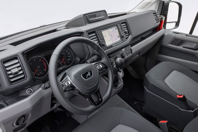Inside view of Man Truck And Bus UK Tge Crew Cab 3 2.0 BiTurbo 180 Auto 4X2F