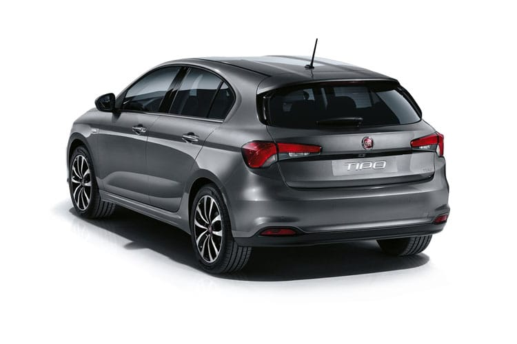 Back view of Fiat Tipo 5 Door Hatch 1.4 120hp T-Jet Lounge (MY2020)