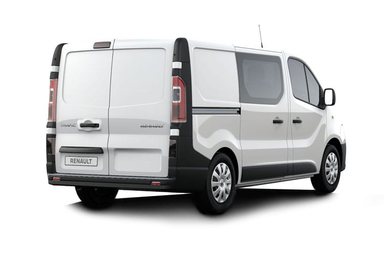 Back view of Renault Trafic Crew Van LL30dCi Energy 120 Business