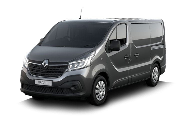 Front view of Renault Trafic Van SL28dCi Energy 170 Black Edition