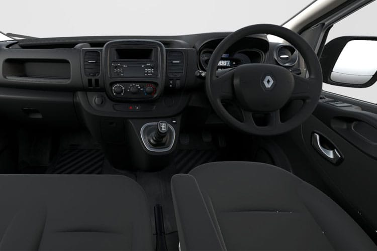 Inside view of Renault Trafic Van SL28dCi Energy 170 Black Edition