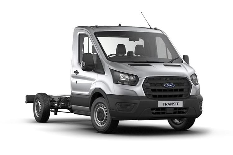 Front view of Ford Transit 350 L2 Chassis Cab 2.0TDCi 170 RWD