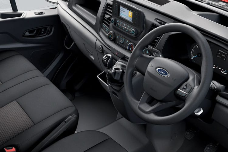 Inside view of Ford Transit 350 L3 Chassis Double Cab 2.0TDCi 130 FWD