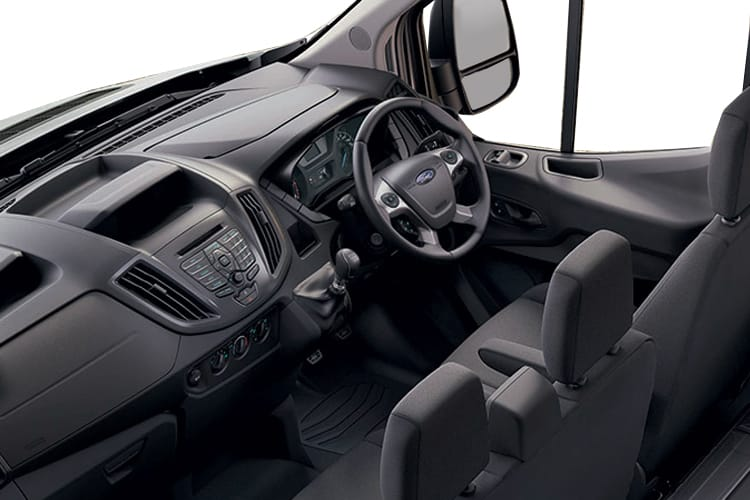 Inside view of Ford Transit 350 L3 Chassis Double Cab Premium Dropside 2.0TDCi AWD