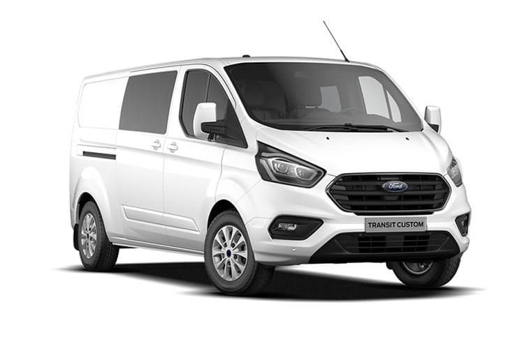 Front view of Ford Transit Custom 300L1 Double Cab In Van 2.0TDCi 130 Limited