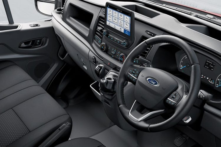 Inside view of Ford Transit 350L3H2 Double Cab In Van 2.0TDCi 130 Leader AWD