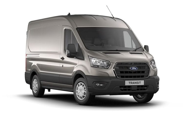 Front view of Ford Transit 290 L2H2 2.0TDCi 130 EcoBlue Leader FWD