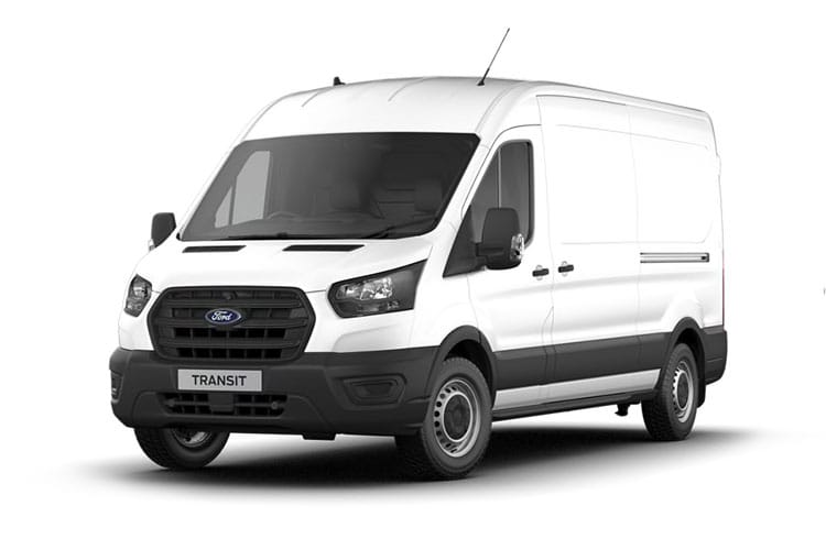 Front view of Ford Transit 330 L3H3 2.0TDCi 105 EcoBlue Leader FWD