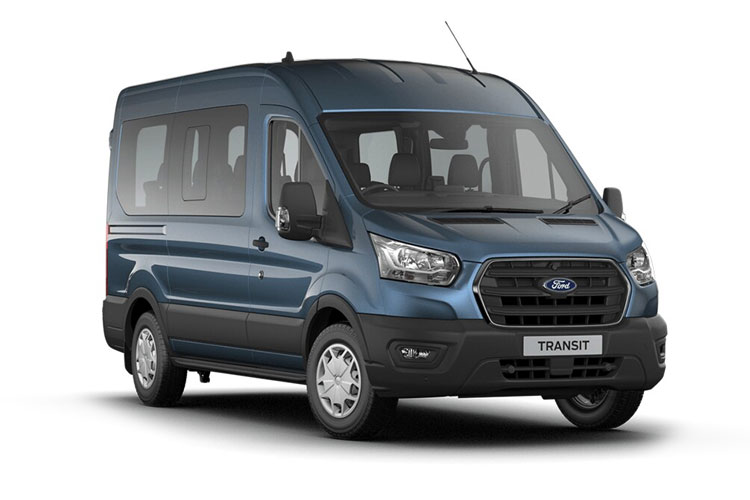 Front view of Ford Transit 460 L4H3 Minibus 18ST 2.0 170 EcoBlue Limited