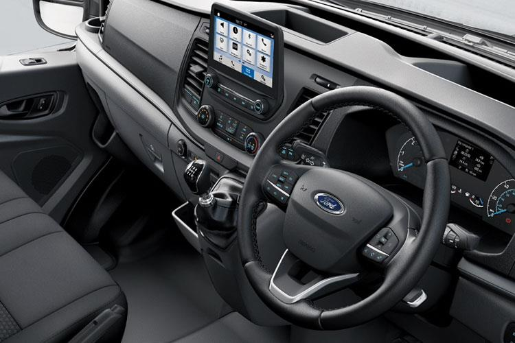 Inside view of Ford Transit 460 L4H3 Minibus 18ST 2.0 170 EcoBlue Limited