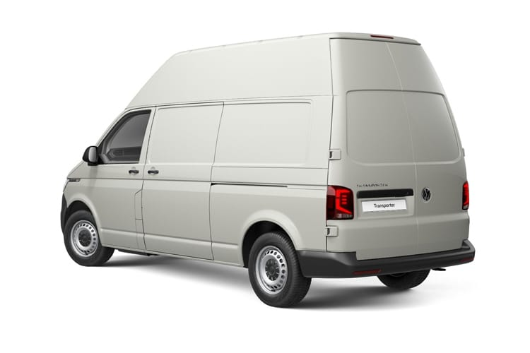 Back view of Volkswagen Transporter Van T32 LWB 2.0 TDI 150 High Roof Startline Business DSG
