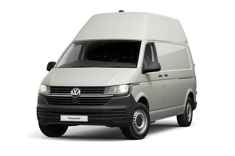 Front view of Volkswagen Transporter Van T32 LWB 2.0 TDI 150 High Roof Startline Business DSG