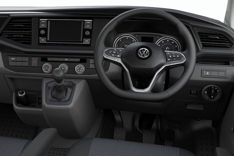 Inside view of Volkswagen Transporter Van T32 LWB 2.0 TDI 150 High Roof Startline Business DSG