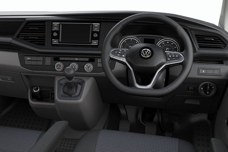Inside view of Volkswagen Transporter Van T30 SWB 2.0 TDI 150ps Startline