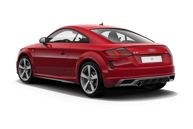 Back view of Audi TT Coupe 45 TFSI 245ps Quattro Black Edition S tronic (MY2021.01)