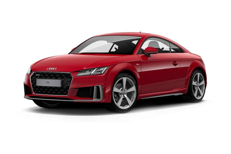 Front view of Audi TT Coupe 45 TFSI 245ps Quattro Black Edition S tronic (MY2021.01)