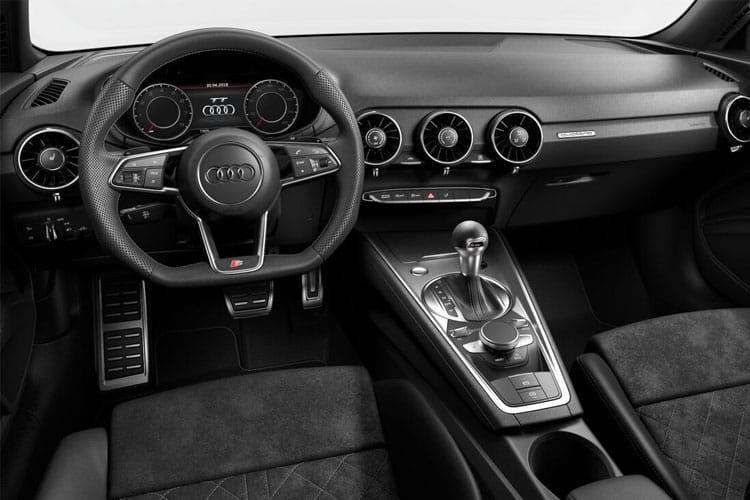 Inside view of Audi TT Coupe 45 TFSI 245ps Quattro Black Edition S tronic (MY2021.01)
