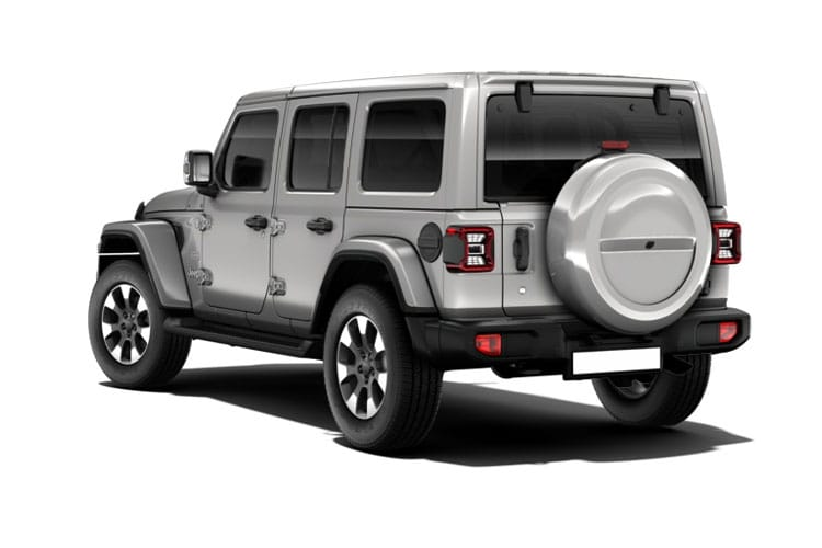 Back view of Jeep Wrangler 4 Door 2.2 200hp Multijet II Rubicon