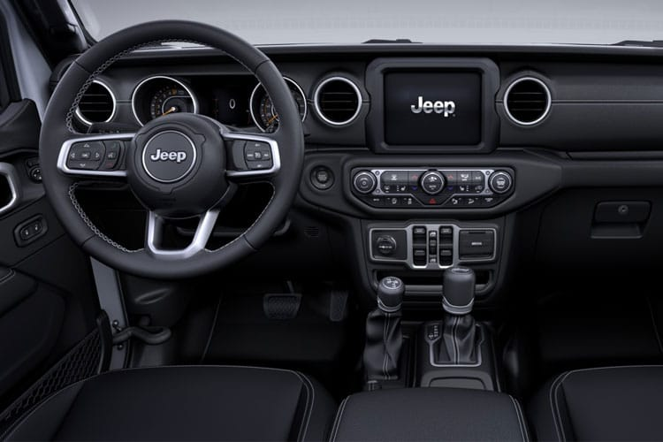 Inside view of Jeep Wrangler 4 Door 2.2 200hp Multijet II Rubicon